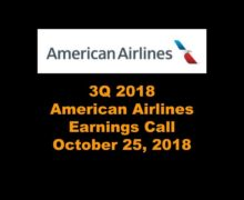 American Airlines 3Q 2018 Earnings Call
