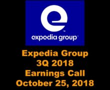 Expedia 3Q 2018 Earnings Call
