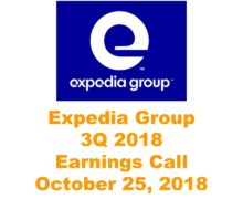 Expedia Group 3Q 2018 Earnings Call Highlight