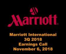 Marriott 3Q 2018 Earnings Call