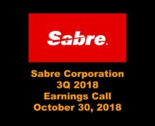 Sabre Earnings Call 3Q 2018